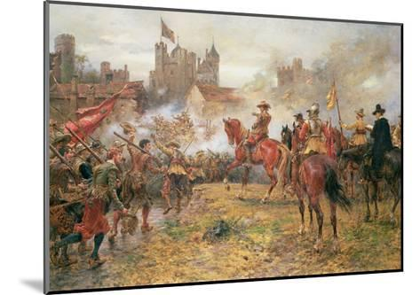 Cromwell at the Storming of Basing House, 1900-Ernest Crofts-Mounted Giclee Print