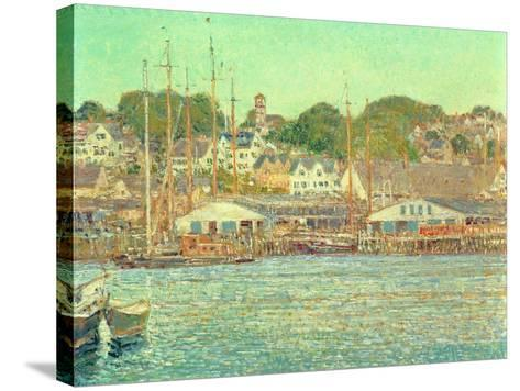 Gloucester Harbour, 1917-Childe Hassam-Stretched Canvas Print