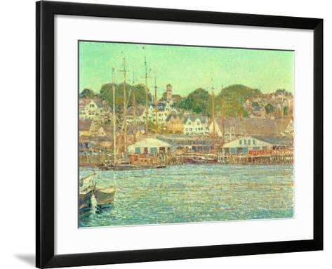 Gloucester Harbour, 1917-Childe Hassam-Framed Art Print