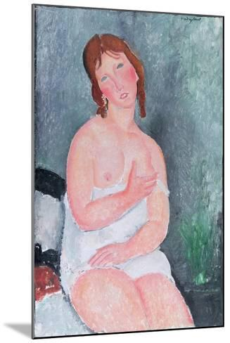 Young Woman in a Shirt, or the Little Milkmaid, 1917-18-Amedeo Modigliani-Mounted Giclee Print