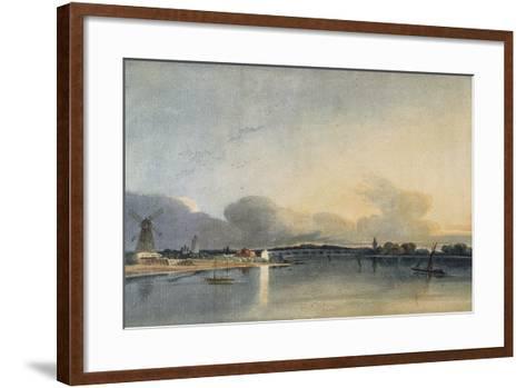 The White House, Chelsea-Thomas Girtin-Framed Art Print