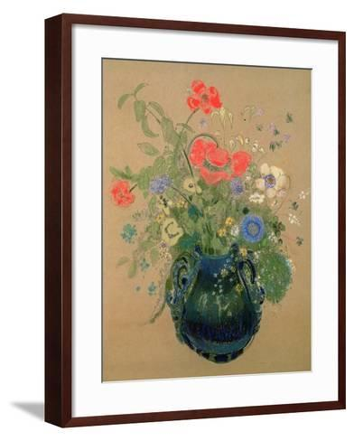 Vase of Flowers, c.1905-08-Odilon Redon-Framed Art Print