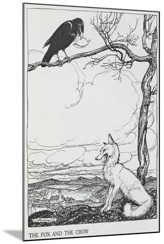 The Fox and the Crow, Illustration from 'Aesop's Fables', Published by Heinemann, 1912-Arthur Rackham-Mounted Giclee Print