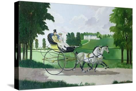 Regency Couple in a Curricle, 1960s-Doris Clare Zinkeisen-Stretched Canvas Print