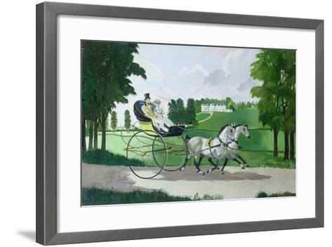 Regency Couple in a Curricle, 1960s-Doris Clare Zinkeisen-Framed Art Print