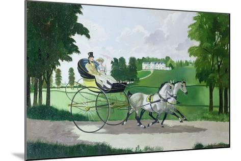 Regency Couple in a Curricle, 1960s-Doris Clare Zinkeisen-Mounted Giclee Print