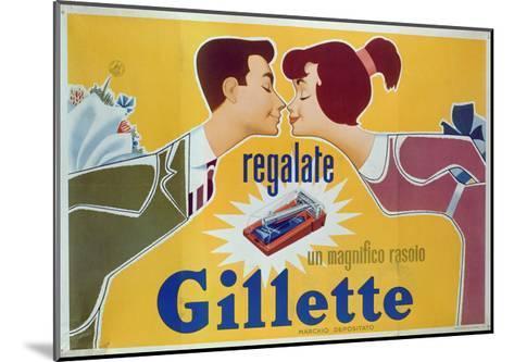 Poster Advertising Gillette Razors-Italian School-Mounted Giclee Print