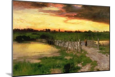 The Old Bridge over Hook Pond, 1907-Thomas Moran-Mounted Giclee Print