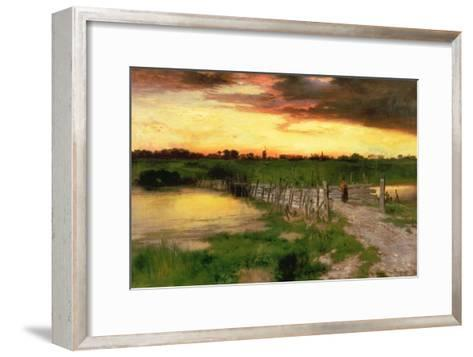 The Old Bridge over Hook Pond, 1907-Thomas Moran-Framed Art Print