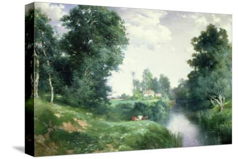 A Long Island River, 1908-Thomas Moran-Stretched Canvas Print