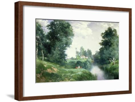 A Long Island River, 1908-Thomas Moran-Framed Art Print