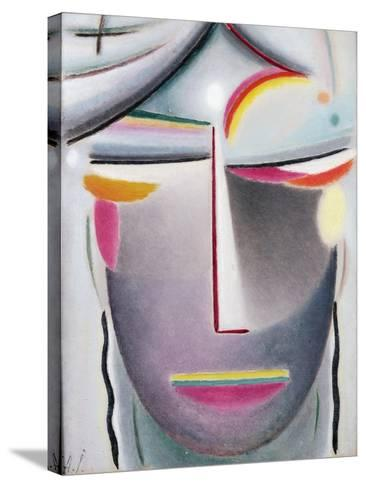 Head (Dark Buddha), c.1927-Alexej Von Jawlensky-Stretched Canvas Print