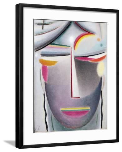 Head (Dark Buddha), c.1927-Alexej Von Jawlensky-Framed Art Print