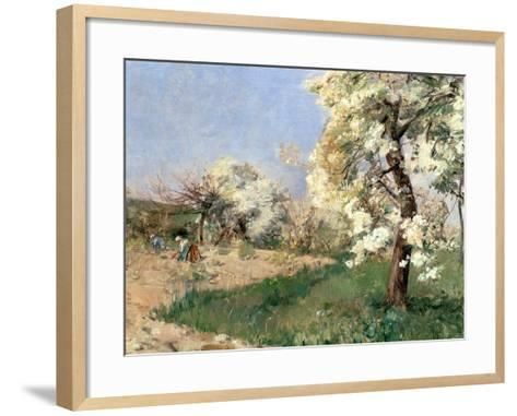 Pear Blossoms, Villiers-De-Bel-Childe Hassam-Framed Art Print