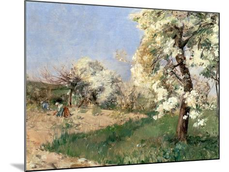 Pear Blossoms, Villiers-De-Bel-Childe Hassam-Mounted Giclee Print