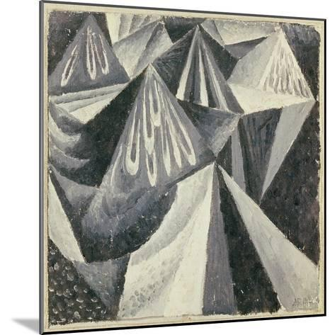 Cubo-Futurist Composition in Grey and White, 1916-Alexander Bogomazov-Mounted Giclee Print
