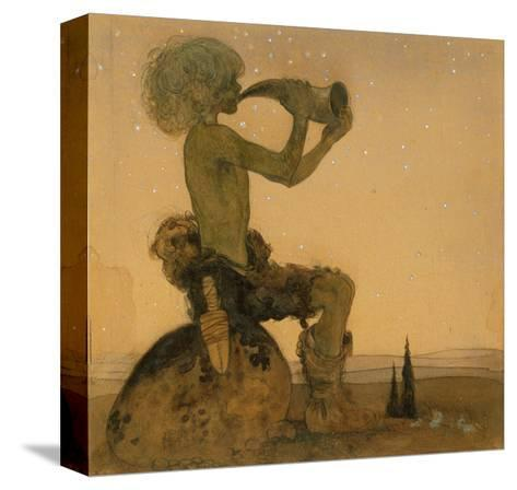A Fairy Shepherd, 1910-John Bauer-Stretched Canvas Print