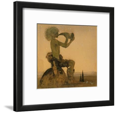 A Fairy Shepherd, 1910-John Bauer-Framed Art Print