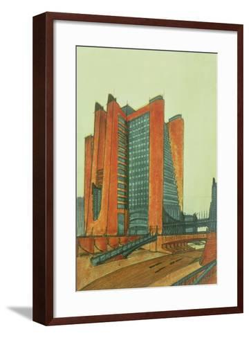 La Citta Nuova, 1913-Antonio Sant'Elia-Framed Art Print
