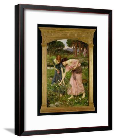 'Gather Ye Rosebuds While Ye May', 1909-John William Waterhouse-Framed Art Print