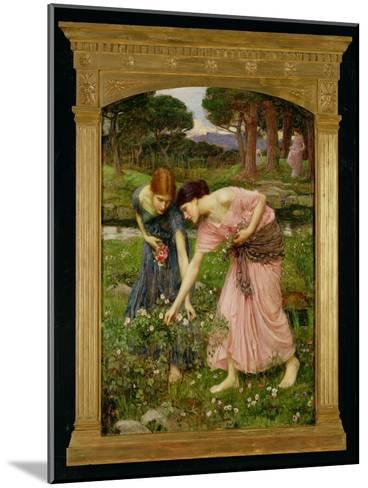 'Gather Ye Rosebuds While Ye May', 1909-John William Waterhouse-Mounted Giclee Print