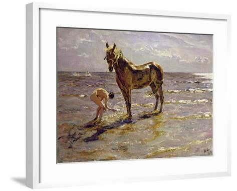 Bathing a Horse, 1905-Valentin Aleksandrovich Serov-Framed Art Print