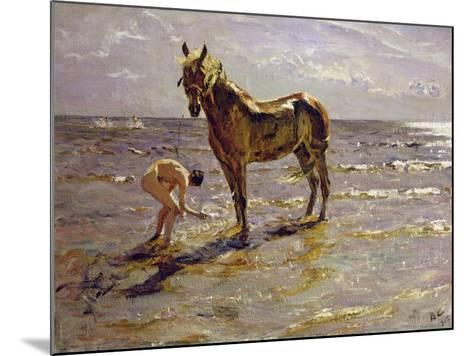 Bathing a Horse, 1905-Valentin Aleksandrovich Serov-Mounted Giclee Print
