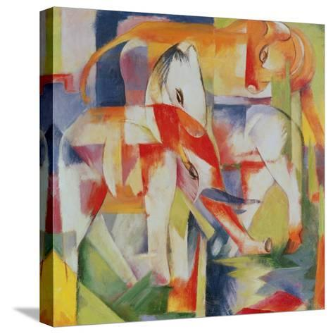 Elephant, Horse and Cow, 1914-Franz Marc-Stretched Canvas Print