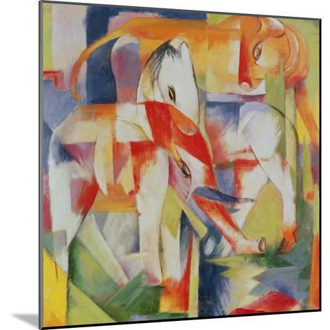 Elephant, Horse and Cow, 1914-Franz Marc-Mounted Giclee Print