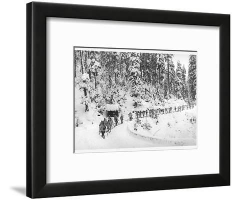 Mountain Infantrymen in the Vosges, 1918-Jacques Moreau-Framed Art Print