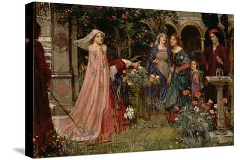 The Enchanted Garden, c.1916-17-John William Waterhouse-Stretched Canvas Print