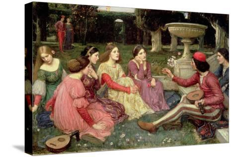 The Decameron, 1916-John William Waterhouse-Stretched Canvas Print