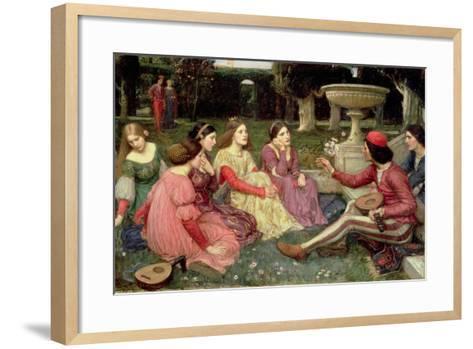 The Decameron, 1916-John William Waterhouse-Framed Art Print