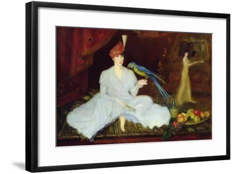 Woman with a Parrot, 1905-Georges Bottini-Framed Art Print