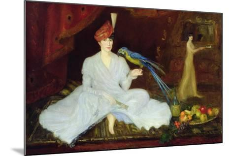 Woman with a Parrot, 1905-Georges Bottini-Mounted Giclee Print