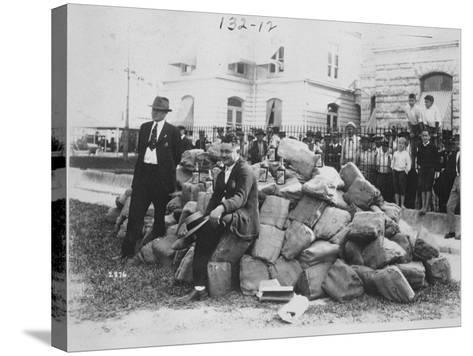 Sheriff Allen with Liquor Outside Dade County Jail, Florida, 1922-American Photographer-Stretched Canvas Print