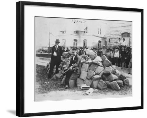 Sheriff Allen with Liquor Outside Dade County Jail, Florida, 1922-American Photographer-Framed Art Print