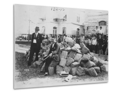 Sheriff Allen with Liquor Outside Dade County Jail, Florida, 1922-American Photographer-Metal Print