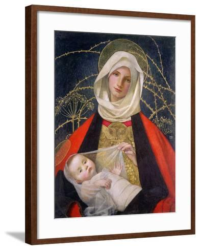 Madonna and Child, 1907-08-Marianne Stokes-Framed Art Print
