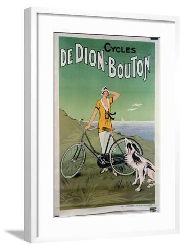 Poster Advertising the 'De Dion-Bouton' Cycles, 1925-Felix Fournery-Framed Art Print