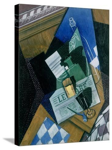 Still Life with Water Bottle, Bottle and Fruit Dish, 1915-Juan Gris-Stretched Canvas Print