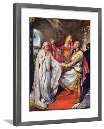 The Marriage of King Arthur and Queen Guinevere, Illustration for 'Children's Stories from…-John Henry Frederick Bacon-Framed Art Print