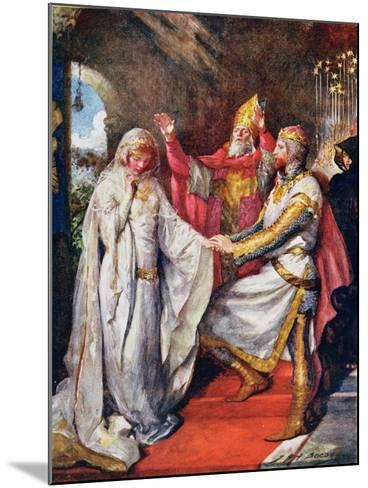 The Marriage of King Arthur and Queen Guinevere, Illustration for 'Children's Stories from…-John Henry Frederick Bacon-Mounted Giclee Print