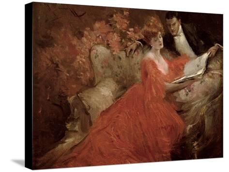 Flirtation, 1910-Reginald Pannett-Stretched Canvas Print