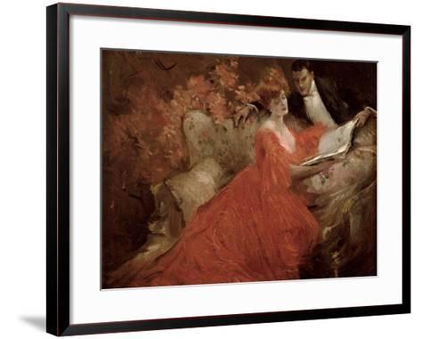 Flirtation, 1910-Reginald Pannett-Framed Art Print
