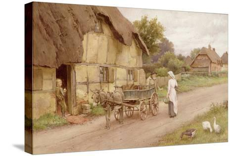 The Donkey Cart, c.1920-Charles Edward Wilson-Stretched Canvas Print