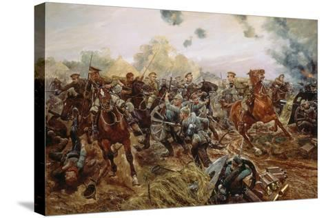 The First VC of the European War, 1914-Richard Caton Woodville II-Stretched Canvas Print