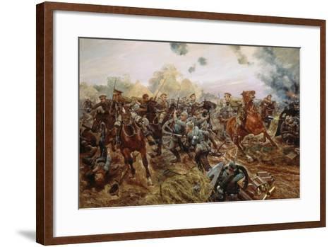 The First VC of the European War, 1914-Richard Caton Woodville II-Framed Art Print
