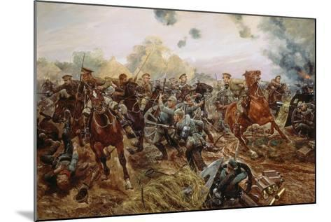 The First VC of the European War, 1914-Richard Caton Woodville II-Mounted Giclee Print