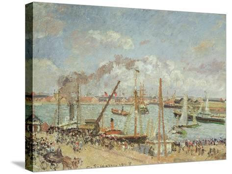 The Port of Le Havre, Afternoon, Sun, 1903-Camille Pissarro-Stretched Canvas Print